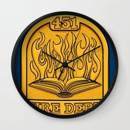 Fire Department 451 Wall Clock