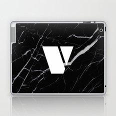 Black Marble - Alphabet V Laptop & iPad Skin