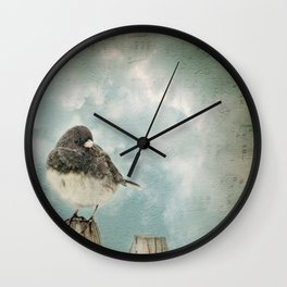 Winter bird Wall Clock