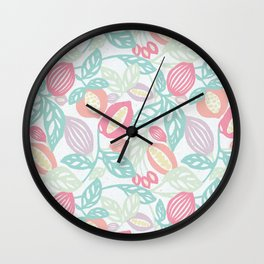 Pastel Fruits Wall Clock