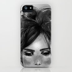 Sweet freckles girl face Slim Case iPhone (5, 5s)