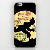 tintin iPhone & iPod Skins featuring Run Tintin, Run by ikado