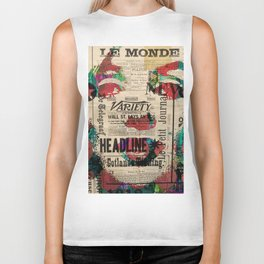sepia Mrs. Monroe Hollywood POP ART CELEBRITY Biker Tank