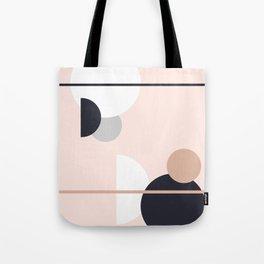 Happy Pattern | Circles | Peach and Grey Tote Bag
