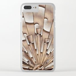 Art Deco Weathered Copper I Clear iPhone Case