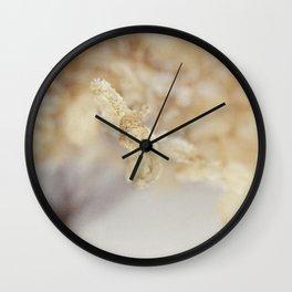 winter hydrangea Wall Clock