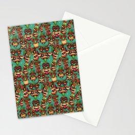 Tiki Head Pattern Stationery Cards