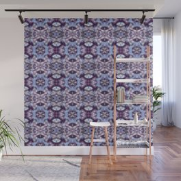 Pattern in Blue and Violet Wall Mural