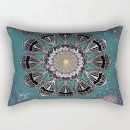 Sky Twilight Boho Cosmos Mandala Rectangular Pillow