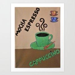 Coffee Choices Art Print