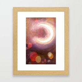 Equinox Moon Framed Art Print