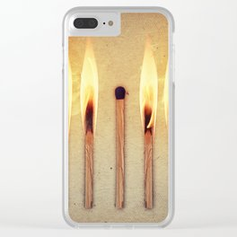 whole leader match Clear iPhone Case