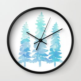 Tahoe Trees  Wall Clock