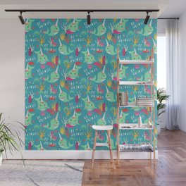 Narwhal Be Unique Pattern Wall Mural