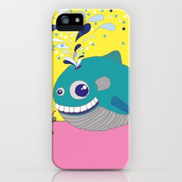 Hugo the Whale iPhone Case