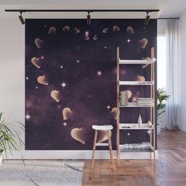 Cosmos Hart of Harts Cream & Purple Wall Mural