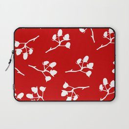 Red berry, Christmas Brier Spray Pattern. Hand drawn Laptop Sleeve