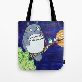 Midnight Totoro Tote Bag