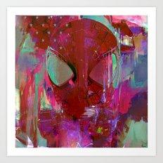 Spider Abstract Man Art Print