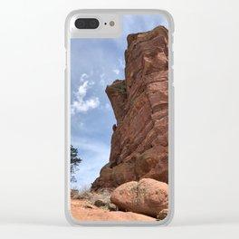Big Tree Bigger Rock Clear iPhone Case