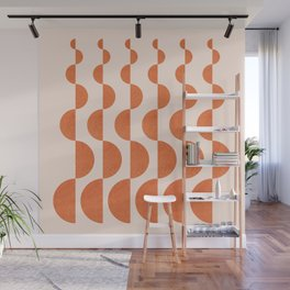 Abstraction_ROUND_WAVES_Minimalism_001 Wall Mural