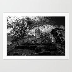 Ruins of Warwick, B&W Version Art Print