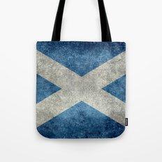 Flag of Scotland, Vintage Retro Style Tote Bag