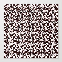 Chessboard melts Canvas Print