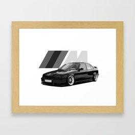 BIMMER E36 MPOWER Framed Art Print