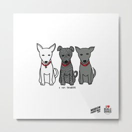 3 Musketeers, I Love Bali Dogs Metal Print