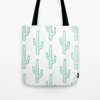 cactus Tote Bags featuring Cactus by Emma Winton