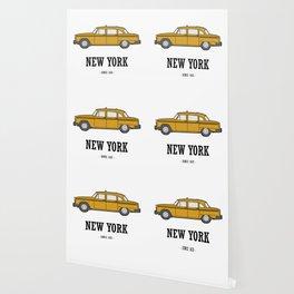 New York Cab Wallpaper