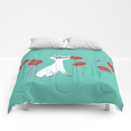 Siamese & Poppies Comforters