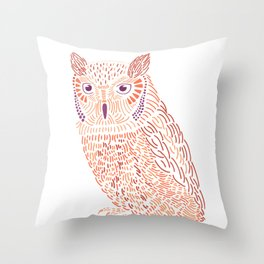 Spirit Eastern Screech Owl Throw Pillow