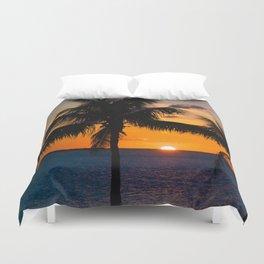 Key Largo Sunset Duvet Cover