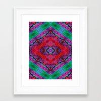 kilim Framed Art Prints featuring Digital Kilim by Jellyfishtimes