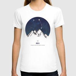 Astrology Aries Zodiac Horoscope Constellation Star Sign Watercolor Poster Wall Art T-shirt