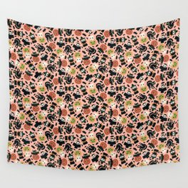 Halloween Gang Pink Wall Tapestry