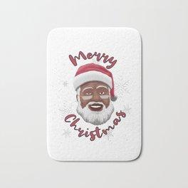 Black Santa Claus: Merry Christmas Bath Mat