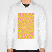 yellow pattern Hoodies featuring Pattern yellow wave by LoRo  Art & Pictures