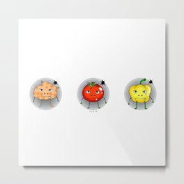 Funny angry vegetables Metal Print
