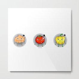 Funny angry vegetables Metal Print