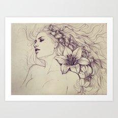Lion's mane Art Print