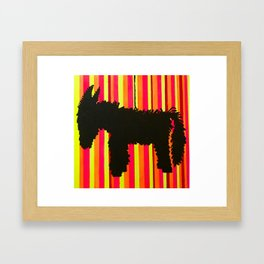 Donkey Piñata Framed Art Print