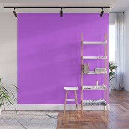 Solid Bright Heliotrope Purple Color Wall Mural