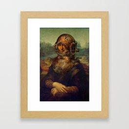 Steampunk Mona Lisa - Leonardo da Vinci Framed Art Print
