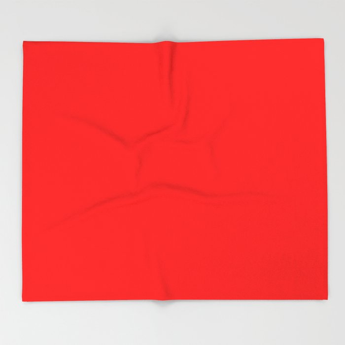 ff0000 Bright Red Throw Blanket