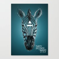 30 seconds to mars Canvas Prints featuring 30 seconds to mars by Aykut Tanay