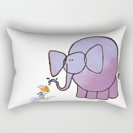 Elephant and Mouse Rectangular Pillow