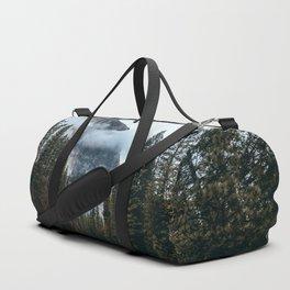 Misty Yosemite River Duffle Bag